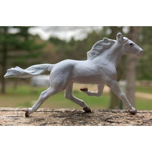 Custom White Breyer Mini Whinny Hambletonian