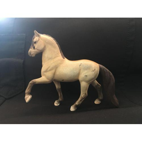 Custom Breyer Peruvian Paso Buckskin with Bend Or Spots
