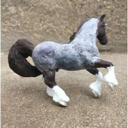 Custom Breyer Clydesdale Unicorn to Blue Roan