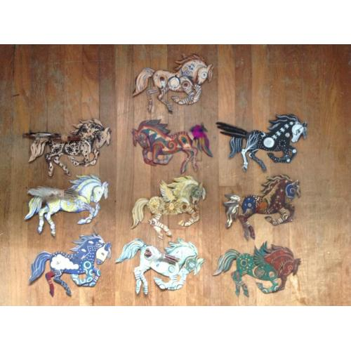 Tin horse collection